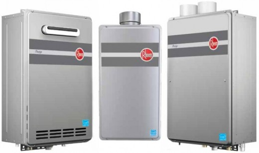 rheem propane tankless water heater. there are two series of gas tankless water heaters from rheem: the prestige™ or rtgh series, which condensing and much more efficient, rheem propane heater
