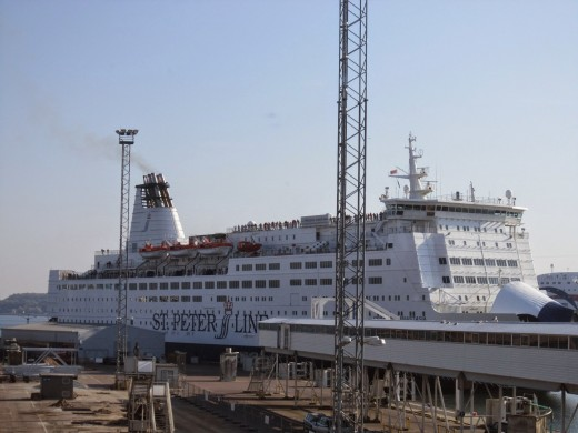 St Peter Line Cruise Ship M/S Maria.Took this ship to Saint Petersburg,Russia.