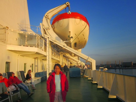 Aboard the M/S Finlandia from Tallinn,Estonia