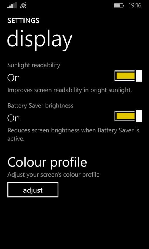 1020 Display Adjustment