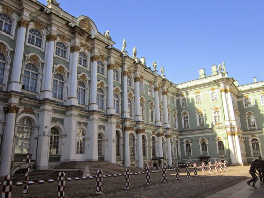 Courtyard -The Winter Palace Of Catherine The Great.St Petersburg,Russia.