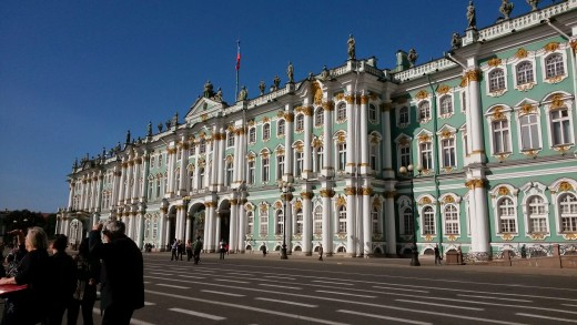 The Winter Palace of Catherine the Great.St Petersburg,Russia.