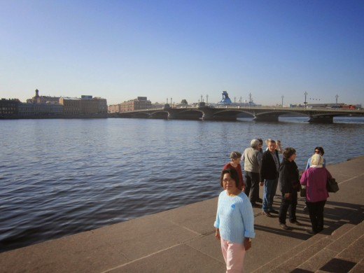 The Neva River facing the Hermitage MuseumSt Petersburg,Russia.-