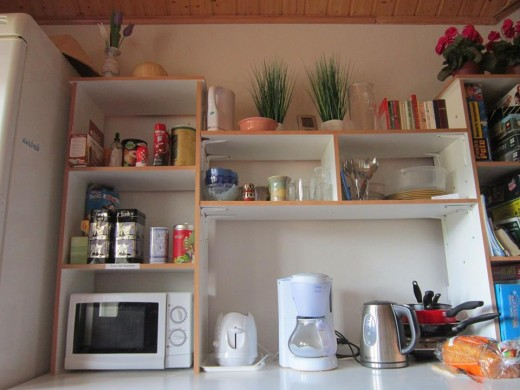My kitchen and fridge in Sipoo,Finland.