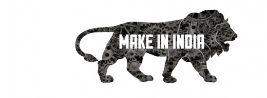 Make in India Campaign Logo that was launched by Narendra Modi.