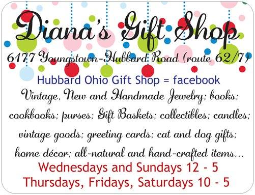 For more information about my little Hubbard, Ohio Gift Shop, please see: