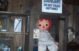 The real Annabelle's imprisonment in the Warrens' museum.