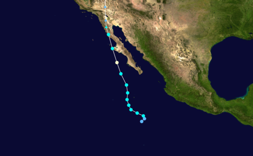 Hurricane/Tropical Storm track.