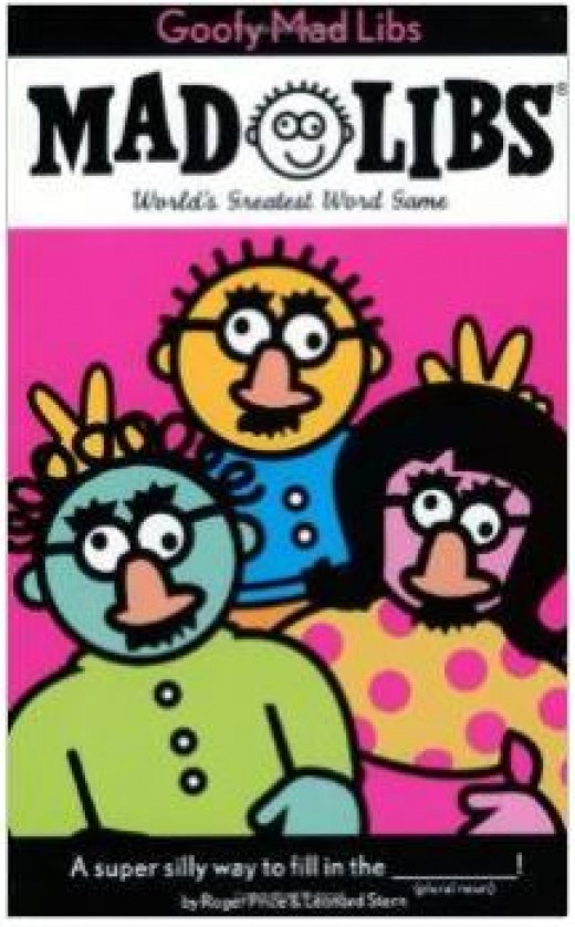 Goofy Mad Libs -- one of many versions of this classic word game. While most Mad Libs stories turn out to be goofy, these are designed to be especially so.