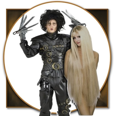 Our Sexy Pairing of Edward Scissorhands and Lady Godiva are sure to be a hit. Details about costumes can be found below.