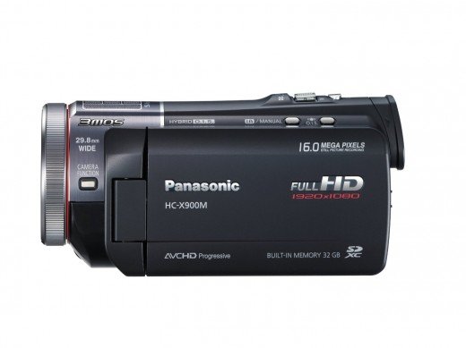 A side view of the Panasonic HC-X900M.