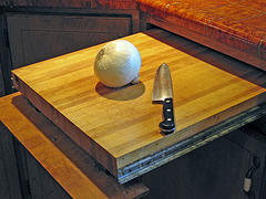 A good wooden cutting board is helpful in any kitchen