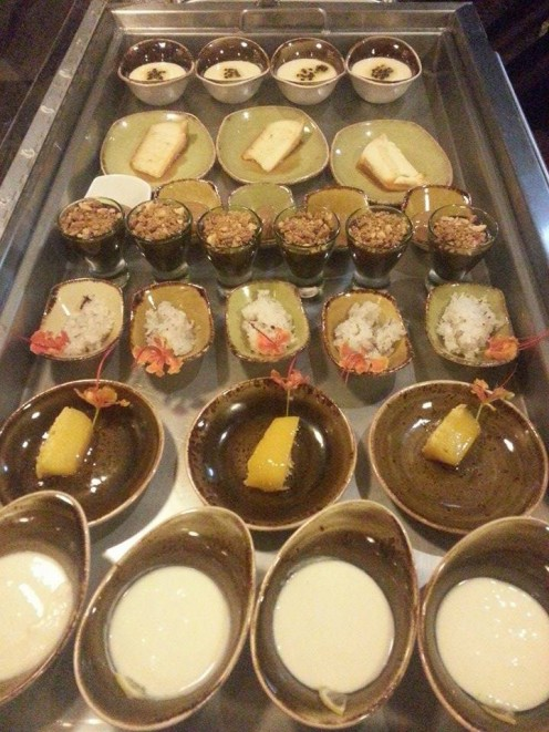 Cart full of delicious Brazilian desserts
