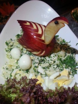 One of the gourmet salad from the salad bar