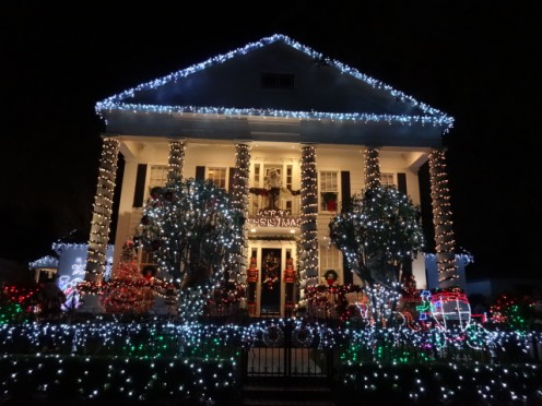 A Private Residence Decorated for Christmas in the Town of Celebration, Florida!