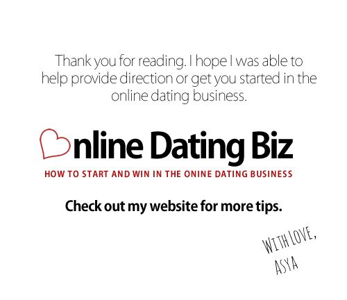 Online dating Business Blog -- get my latest tips, resources and tutorials.