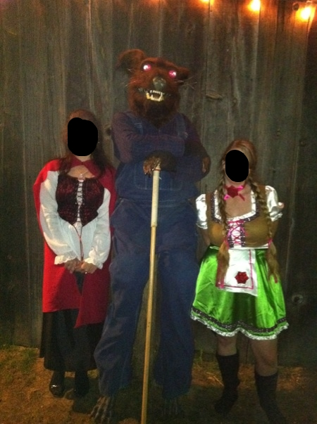 To show costumes (faces covered for identity purposes)