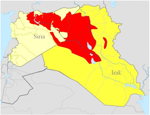 Red=Now under Daash control
