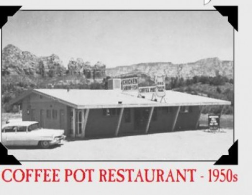 c/o The coffee Pot Menu/ The Cofee Pot black and white photo.