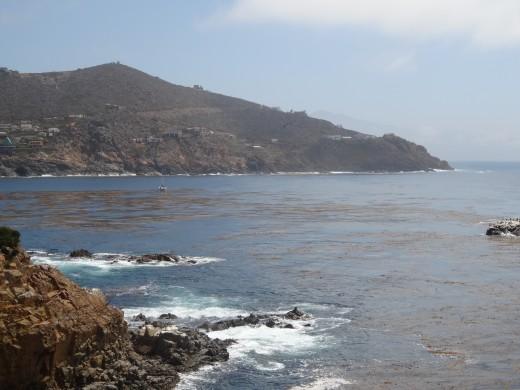 The scenic coastline of Ensenada