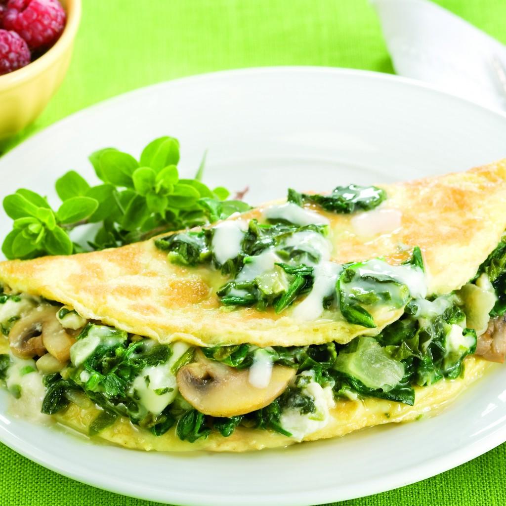150 Calorie Breakfast Recipe: Mushroom, Spinach, and ...