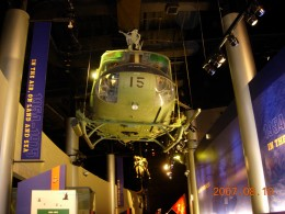 A huey helicopter at the Marine Corps Museum, Quantico, VA.
