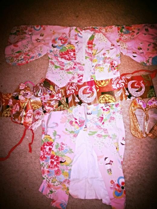 Child's Kimono with accessories