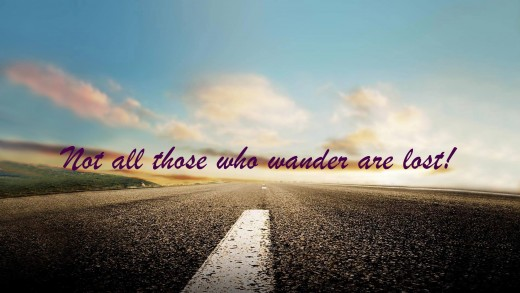 """Not all those who wander are lost""                       -susan satong"