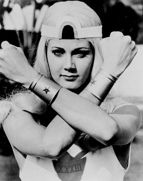 Lynda Carter as Wonder Woman.