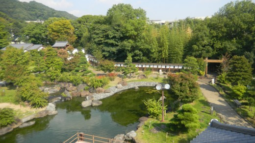 Part of Shiroato Koen from the top of Ikeda Castle