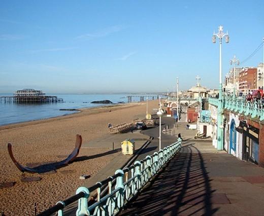 Access to Brighton Beach from the esplanade.