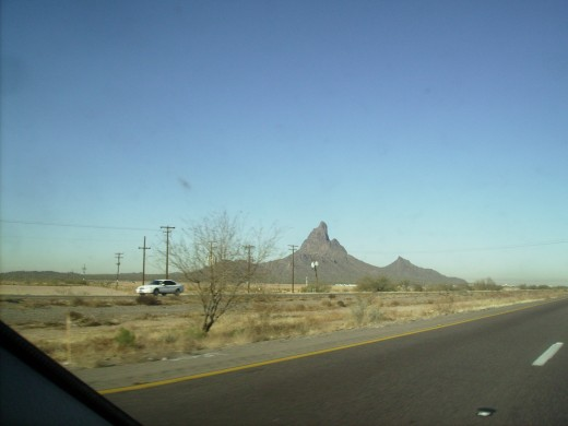 Picacho Peak site of only engagement between Union and Confederate troops in Arizona during Civil War.