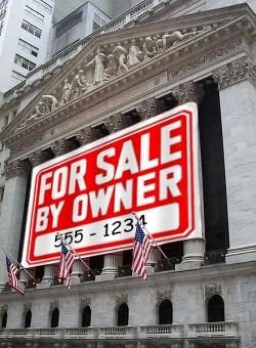Photo of New York Stock Exchange, digitally altered by Autofyrsto.