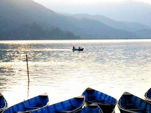 Fewa Lake Pokhara, Nepal