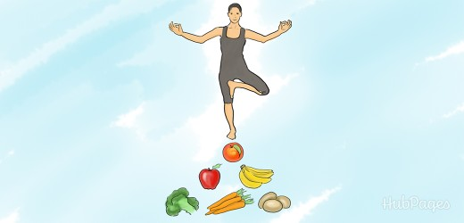 Balance your digestive system by eating at least five fruits and vegetables daily.