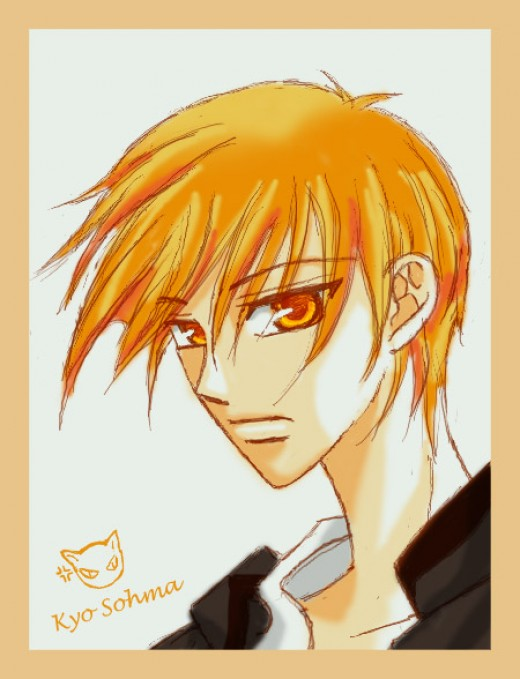 This fanart piece of Kyo Sohma was created by dhqx from DeviantArt.