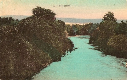 Jordan River from 1925 tour postcard