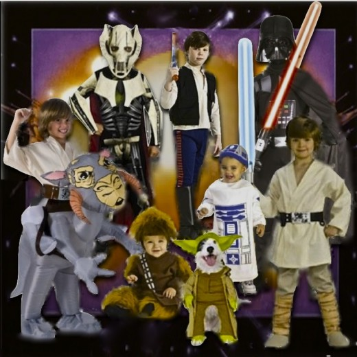 Shown above are a few of the Star Wars Costumes featured on this page Altered Art Collage © 2012-15 CJS