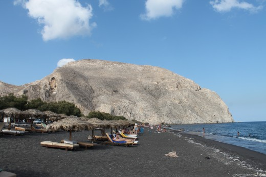 Perissa Beach, Santorini, Greece
