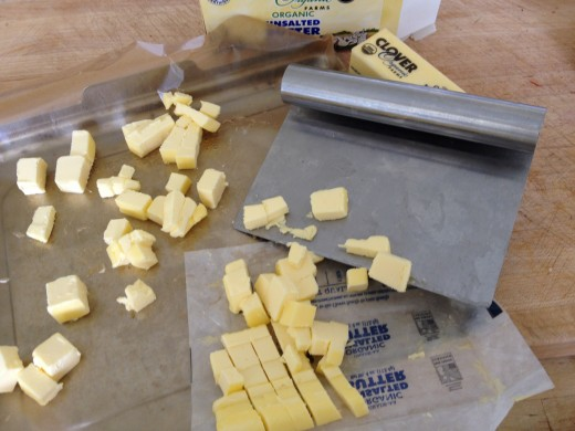 Cube butter fast and set aside to soften to room temperature