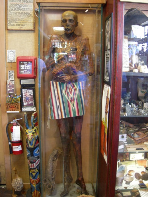 Mummy on Display at the Curiosity Shop: Seattle, WA