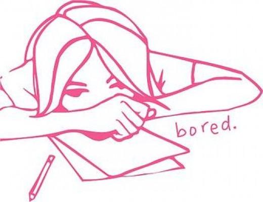 bored student