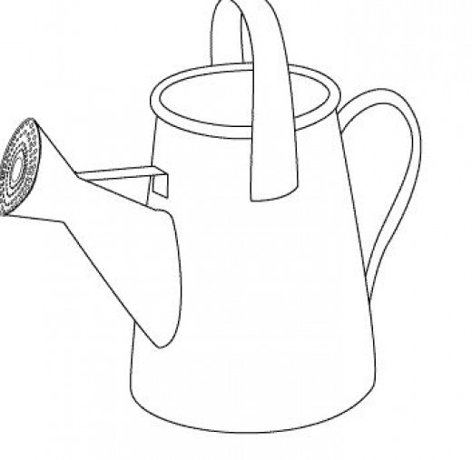 Digital Stamp, Garden Watering Can