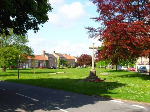 Catterick Village, village green - there are three Catterick communities, Catterick Camp is the biggest - the other side of the A1 - Catterick Bridge is by the racecourse and then there's the growing village here
