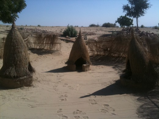 Thar is rich in tradition, Rich in huts too
