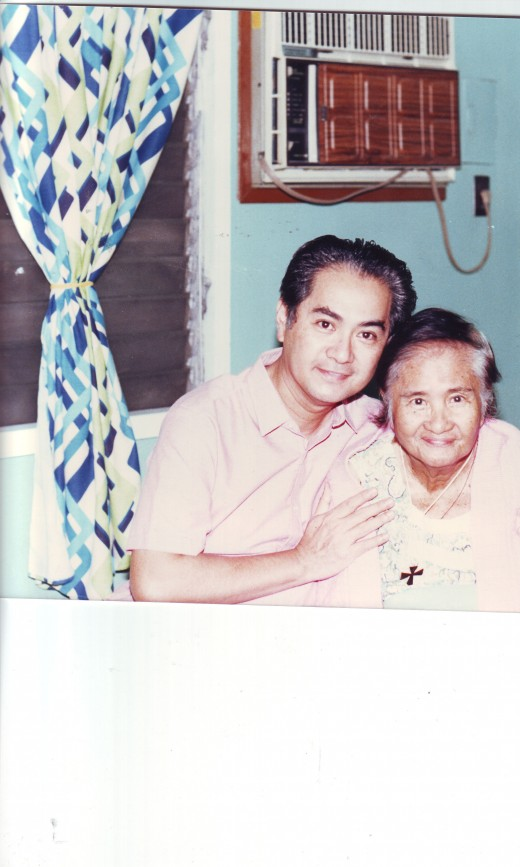 My Mother and Me. Jaro, Iloilo, Philippines 1984
