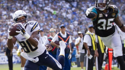 Malcom Floyd catches a touchdown in San Diego's 33-14 win