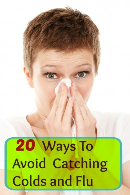 Ways to avoid catching colds and flu