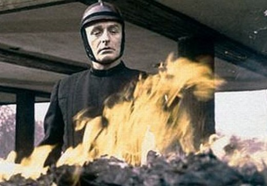 from the movie version of Fahrenheit 451