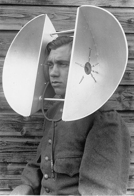 Pre-radar days London had listening gear for detecting German bombers. This is a portable version.